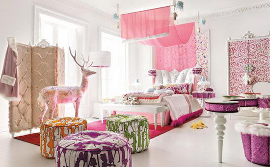 25 Beautiful and Charming Bedroom Design for Teenage Girls ... on Beautiful Room Design For Girl  id=53392