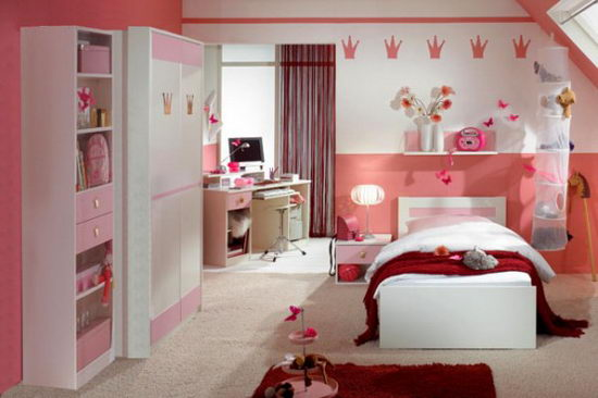 25 Beautiful and Charming Bedroom Design for Teenage Girls ... on Beautiful Room Design For Girl  id=30032