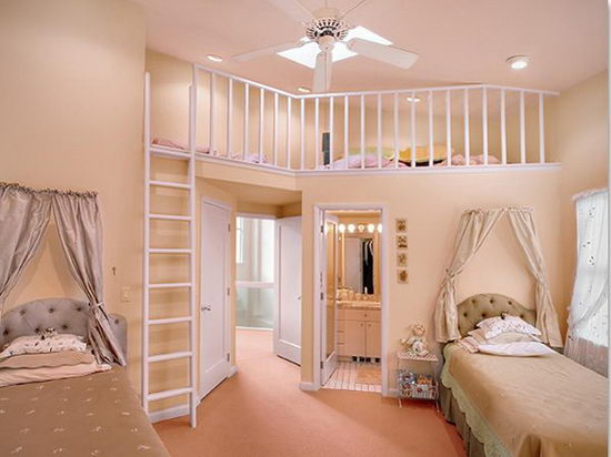 25 Beautiful and Charming Bedroom Design for Teenage Girls ... on Beautiful Room Design For Girl  id=67969