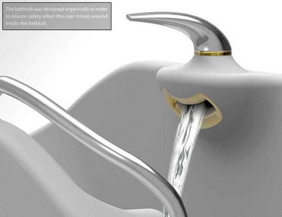 Flume Bathtub Innovative Seesaw Tub Concept Design Swan