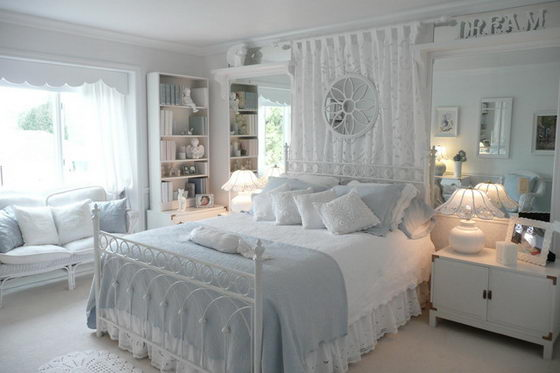 16 Beautiful and Elegant White Bedroom Furniture Ideas ... on Beautiful Rooms For Girls  id=92834