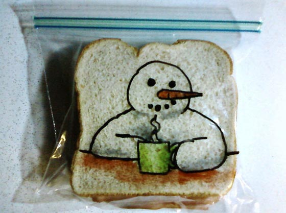 Funny Drawing On Kids Sandwich Bag Every Day Since 2008