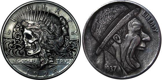 Amazing Miniature Sculpture Carved Into Coin By Paolo