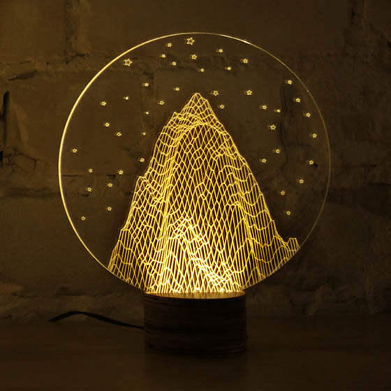 Bulbing Optical Illusion 2d Led Lamp Looks Like 3d