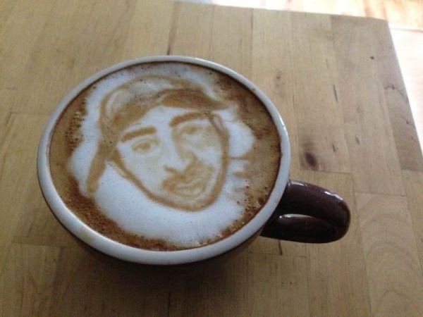 Realistic Latte Portrait Latte Art By Michael Breach