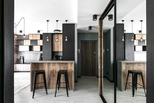 Modern Industrial Style Apartment In Lithuania