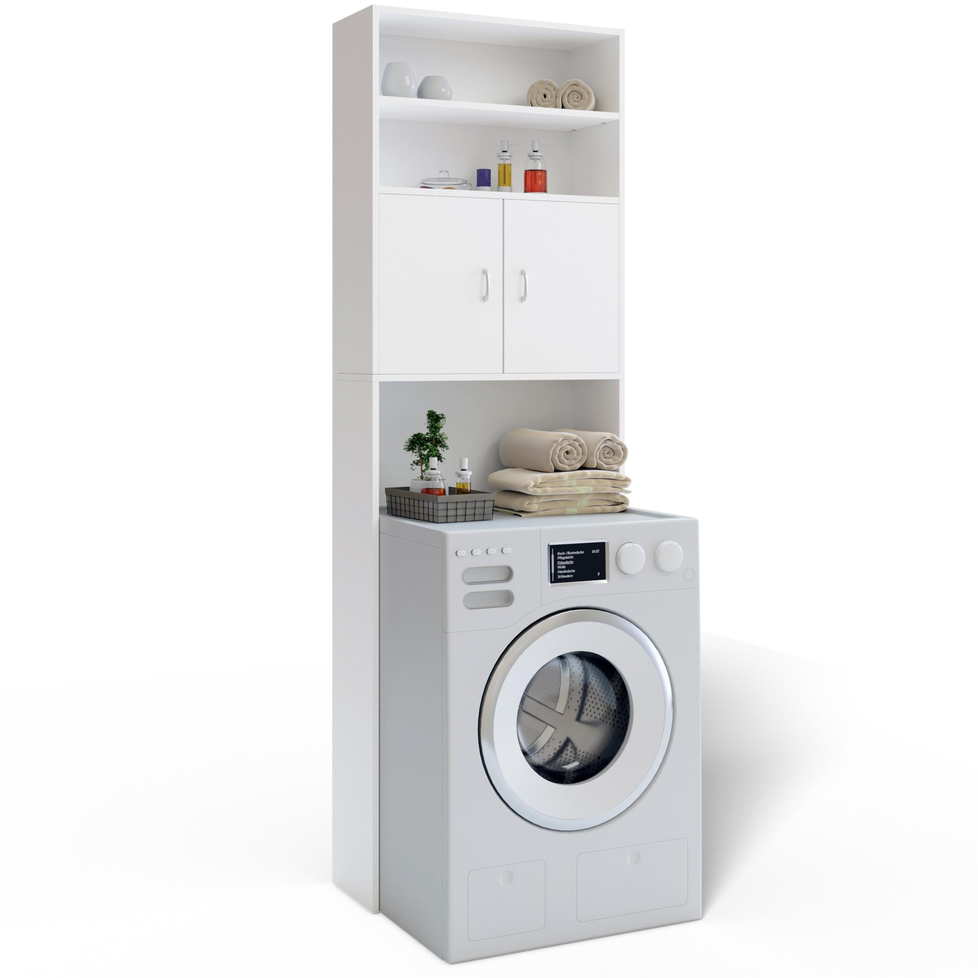 Deuba Waschmaschinenschrank Badschrank 195 X 63 Cm