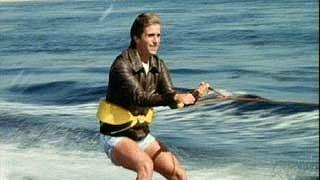 The original shark jumper, Henry Winkler, on Happy Days.