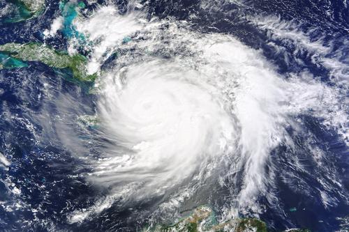 Hurricane Matthew satellite image