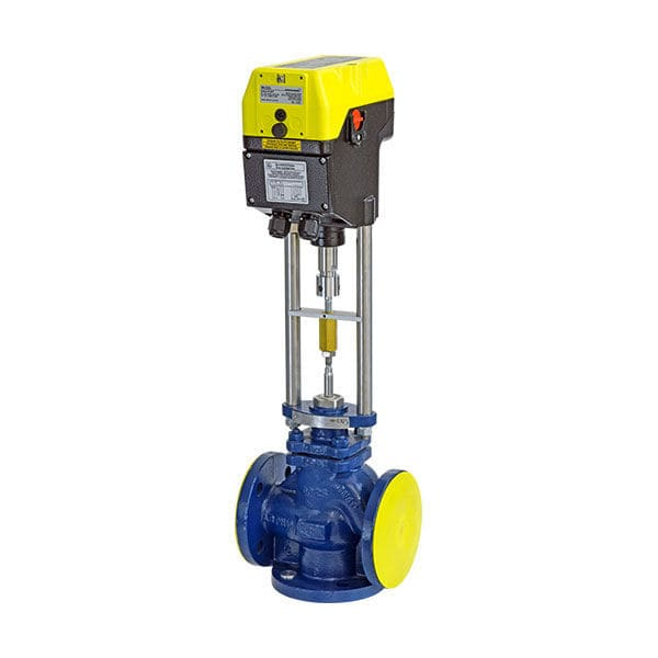 Electric valve actuator / linear / non-spring return / compact - ExRun, RedRun, InRun - Rotork Schischek