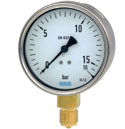 Analog pressure gauge / Bourdon tube / for gas / for liquids - 212.20 - WIKA Alexander Wiegand SE & Co. KG
