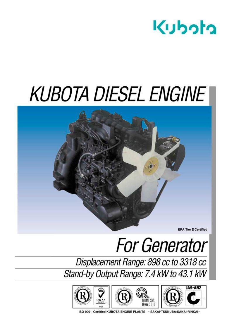 Kubota Sel Engine Pdf Catalogue Technical