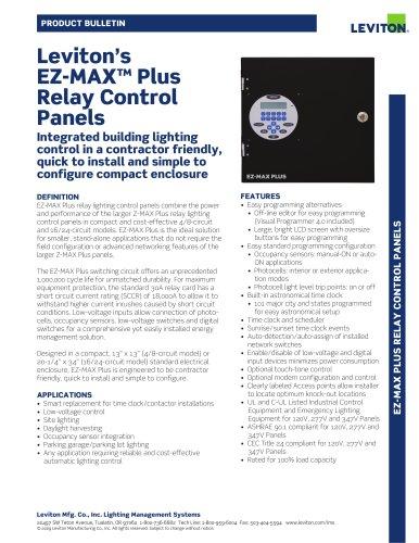 Leviton Lighting Control Panel Manual