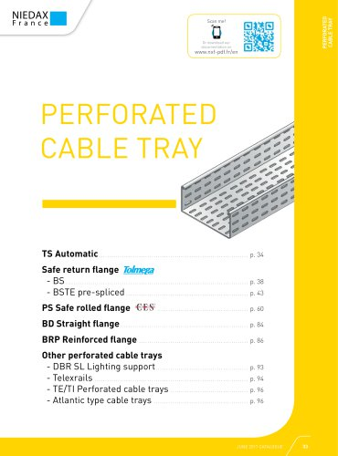 PERFORATED CABLE TRAY - NIEDAX FRANCE - PDF Catalogs | Technical Documentation | Brochure
