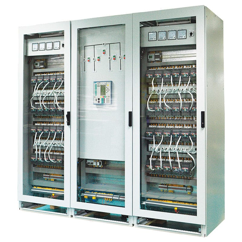 armoire de distribution electrique electrique sur pied en metal