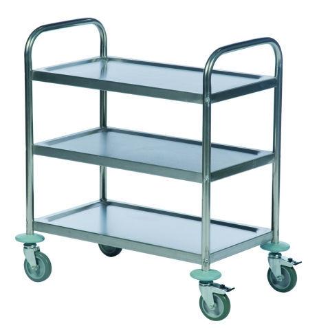 chariot desserte en acier inoxydable a etageres porte outils 2245 2242 2243