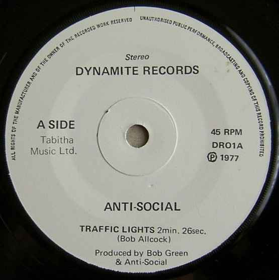 Anti-Social (3) Traffic Lights album cover