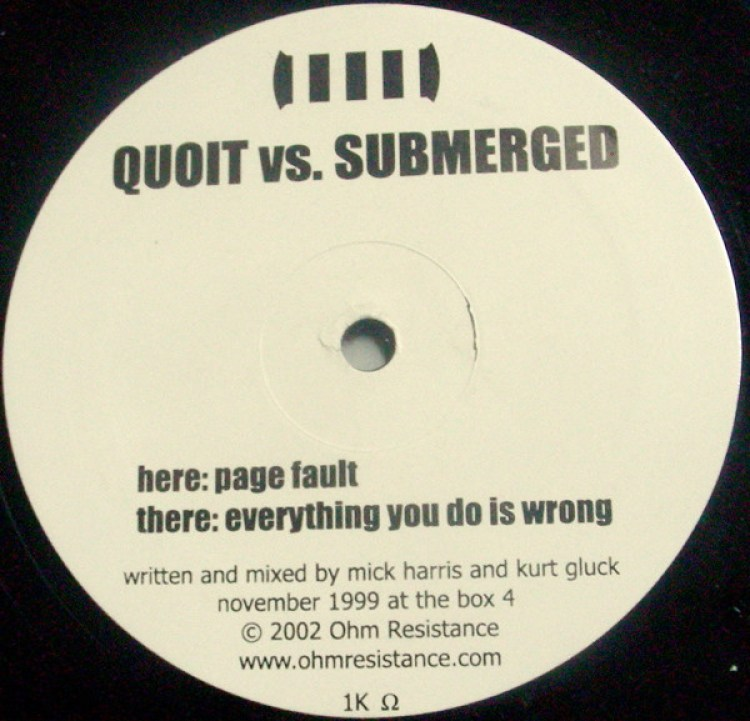 Quoit vs. Submerged – Everything You Do Is Wrong / Page Fault (2001, Vinyl)  - Discogs