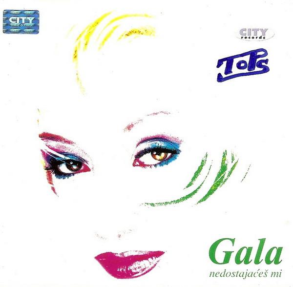 """Omot albuma """"Nedostajaćeš mi"""" Vesne Galiot Gale iz 1999. godine."""
