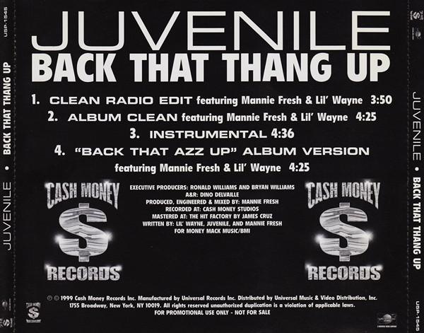 Juvenile Featuring Mannie Fresh Amp Lil Wayne Back That