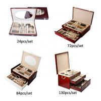 Wooden Box Stainless Steel Flatware Sets 8