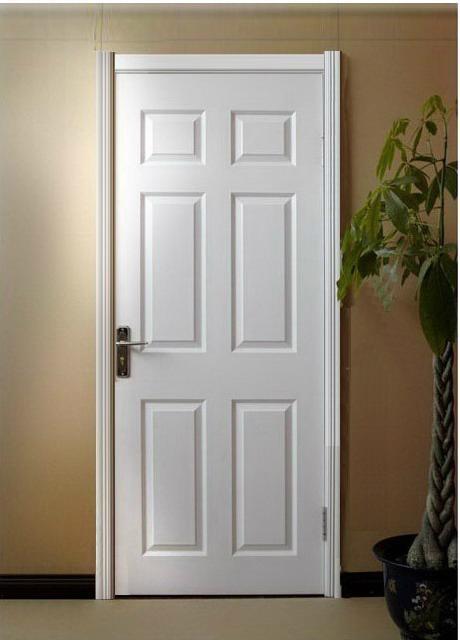 Modern Design PVC MDF Interior Wooden Plain Doors HB 19