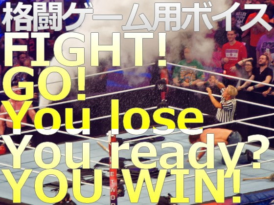 [C_O (B_SIDE)] 格闘ゲーム用 著作権フリーボイス FIGHT! / GO! / You lose / You ready? / YOU WIN!