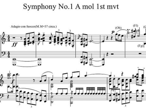[がもん屋] Gamon-Ryusei Symphony No.1 A Minor (我門 隆星 交響曲第一番 イ短調)