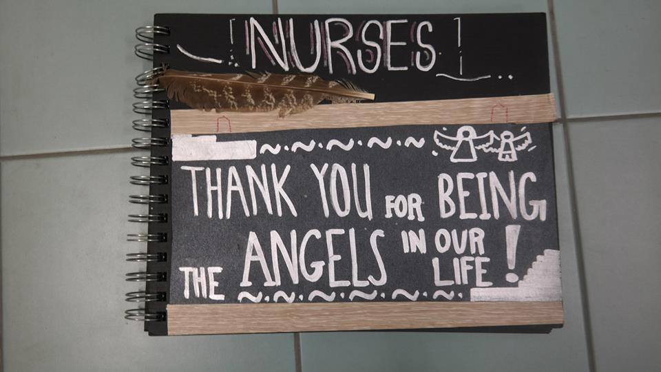 Giving thanks to our nurse