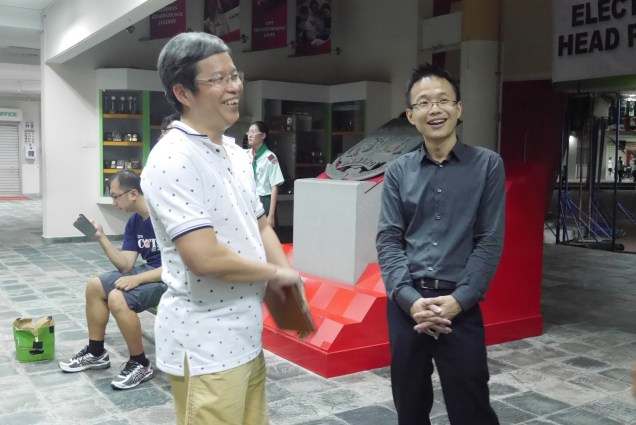 Our Chief Cheng Kiong with GOH VP Tan