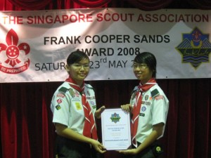 Wan Juan and Amanda presenting to you - The Frank Cooper Sands (GOLD) 2008!