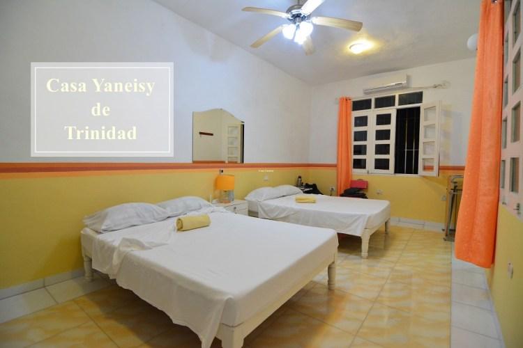 古巴千里達住宿推薦 | Casa Yaneisy舊城區中寬敞明亮插座超多的民宿