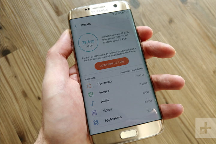 Clear storage on Android - Galaxy S7 Edge