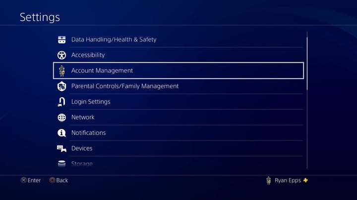 PS4 Gamesharing Account Management