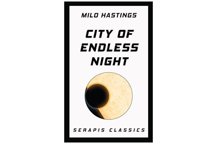Picture shows the cover for City of Endless night, which is white, with the book title and author name in a black font. Below the author name and book title is a circle