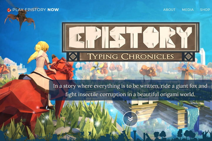 Image of Epistory: Typing Chronicles Homepage