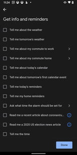Google Assistant Routine Actions