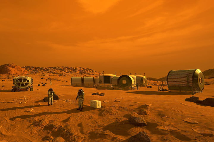 humans on mars nasa concept