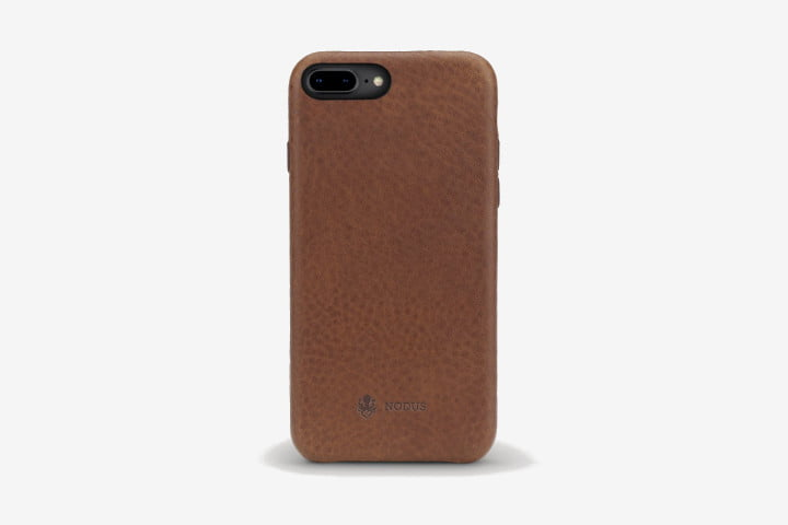 Picture of iPhone 8 in brown Nodus Shell Case II