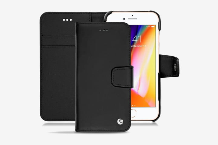 Noreve Tradition B black leather case for Apple iPhone 8