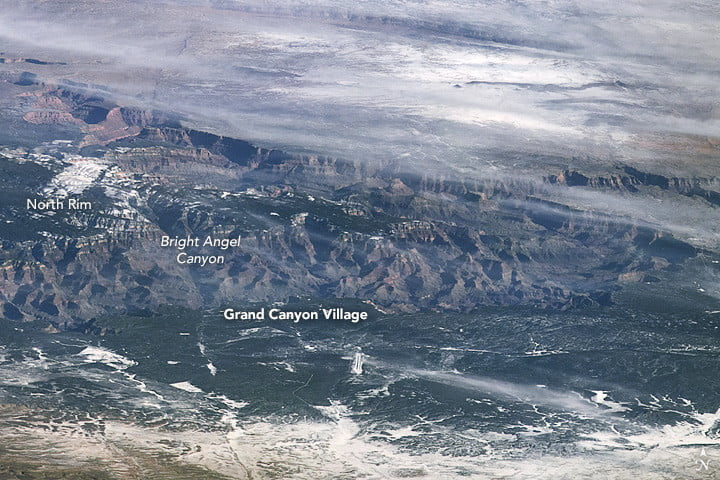 The Grand Canyon shot from the International Space Station (ISS) on December 18, 2009, by astronaut Jeff Williams