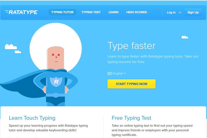 Image of RataType Online Typing Tutor