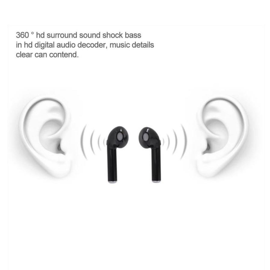 i7S TWS Bluetooth Wireless Earbuds with Charging Box