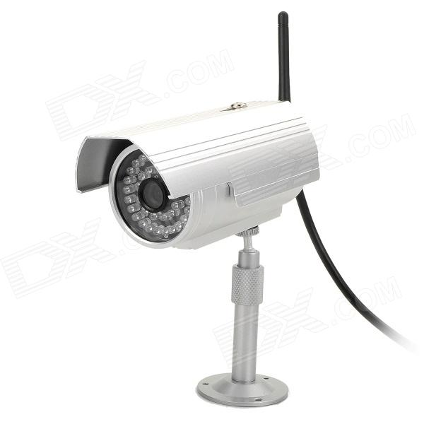 Outdoor Waterproof 300KP Wireless IP Camera w/ 36-LED IR Night Vision - Silver