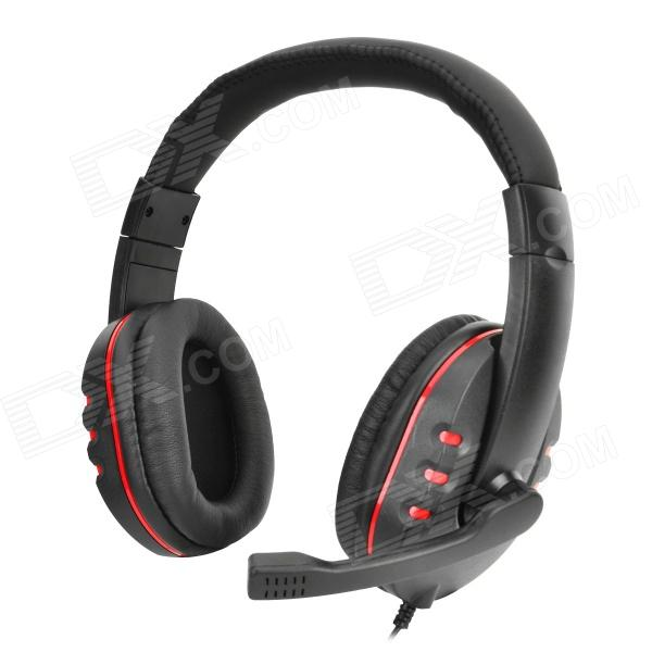 35mm Gaming Headset Headphones W Mic Control For PS4