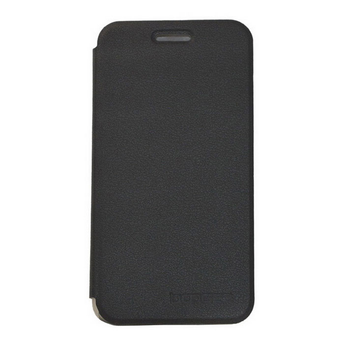 DOOGEE Protective PU Leather + ABS Case w/ Holder for DOOGEE DG310 - Black