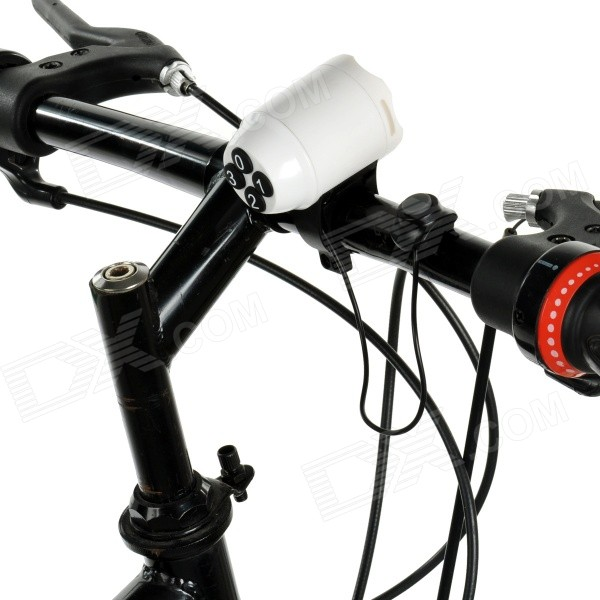 Bike Bicycle Anti-Theft Security Alarm Siren Horn - White ...