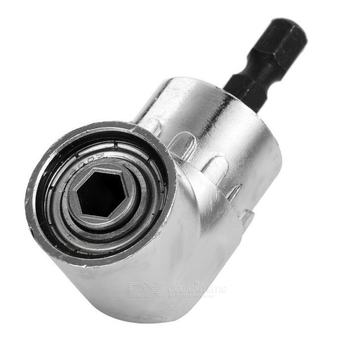 """105 Degree Bent Electric Drill / Socket Wrench / 1/4"""" Screwdriver Connecting Adapter - Silvery White WeiYun 2017 NEW Magic High-speed Steel Connecting Universal Socket Wrench Sleeve Grip Drill Adapter Tool(Black) WeiYun 2017 NEW Magic High-speed Steel Connecting Universal Socket Wrench Sleeve Grip Drill Adapter Tool(Black) sku 393867 1"""