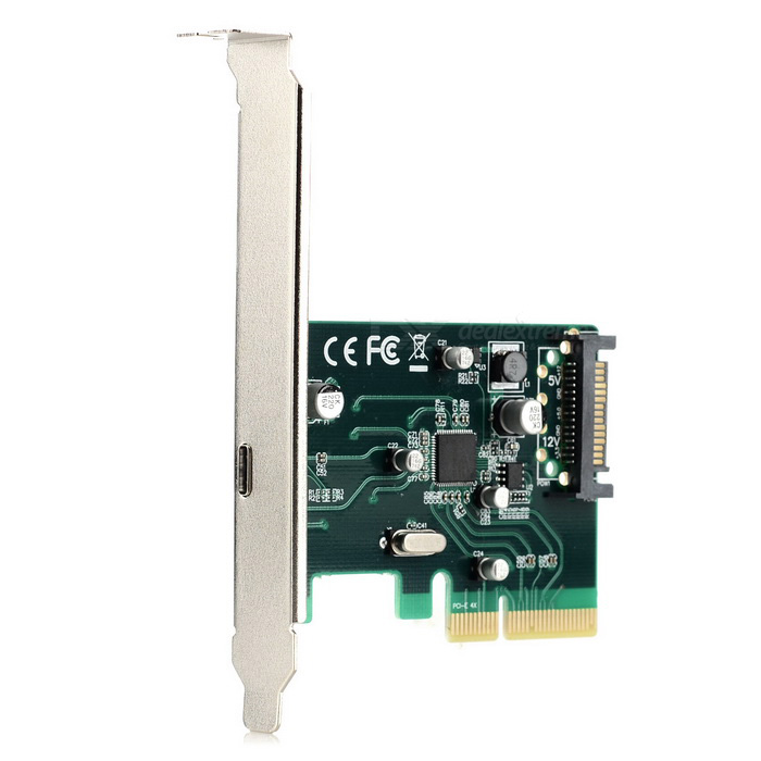 Cwxuan PCI-E 4X to 1 x USB 3.1 Type-C Extension Card (SATA 15-Pin Power Supply) 6 - 6 pin Female PCI-E Connector Clear with Pins, for Antminer S3, S5,S7, GPU 6 – 6 pin Female PCI-E Connector Clear with Pins, for Antminer S3, S5,S7, GPU sku 393976 1
