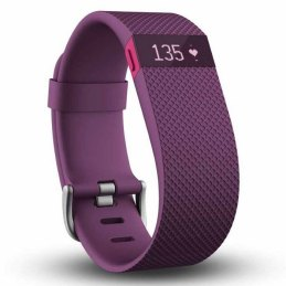 Fitbit Charge HR Wireless Activity Wristband Purple Large